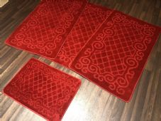 ROMANY WASHABLES NEW GYPSY SET OF 4PC NICE RED MATS NON SLIP TOURER SIZE BARGAIN